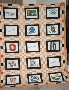 Sam's graduation t-shirt quilt