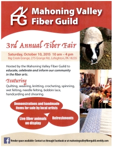 Mahoning Valley Fiber Guild's Fiber Fair 2015